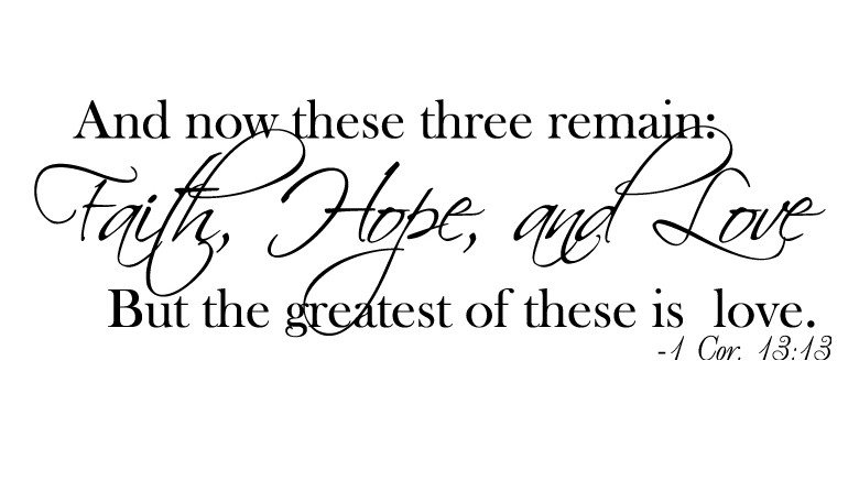 FAITH HOPE AND LOVE Quotes Like Success Quotes About Hope And Love